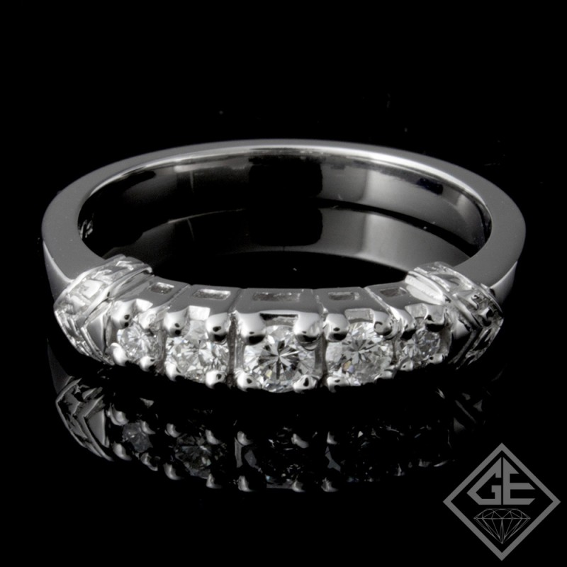 Ladies Diamond Matching Wedding Band with 0.35 carat Round Brilliant cut side diamonds
