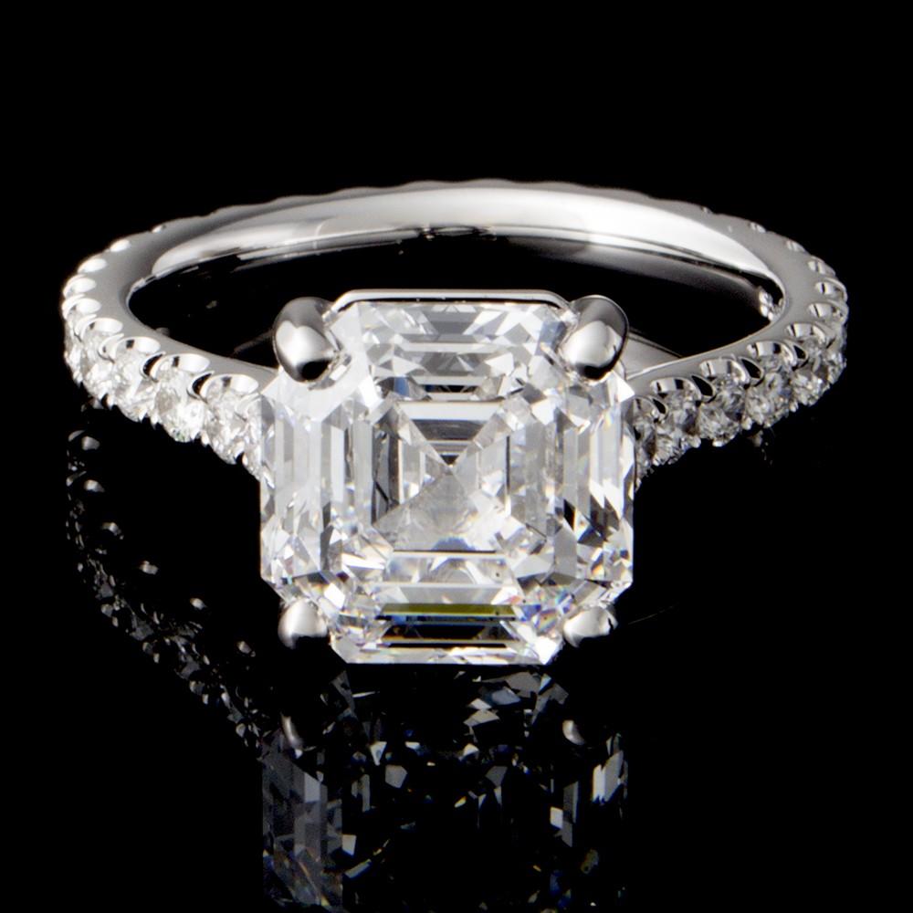 3.39 Custom Asscher Diamong Ring