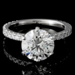 2.81 CTWT Round Cut Diamond Custom Engagement Ring