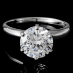 Ladies 6-Prong Solitaire Engagement Ring in 14k White Gold