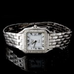 Men's Gerard Petit Watch with Fold Over Lock in 14k White Gold