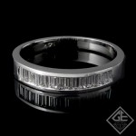 0.58 carat Baguette Cut Diamond Wedding Band in 14k White Gold