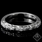 0.14 carat Round Brilliant Cut Diamond Wedding Band in 14k White Gold