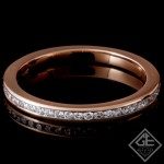 14k Rose Gold 0.21 Carat Round Brilliant Cut Diamond Wedding Band