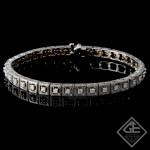 1.03Ct total Round Brilliant Cut Ladies Diamond Bracelet in 14k White Gold