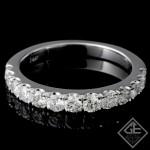 Ladies Diamond Matching Wedding Band with 0.70 carat Round Brilliant cut side diamonds.