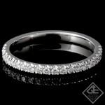Ladies Diamond Matching Wedding Band with 0.26 carat Round Brilliant cut side diamonds.