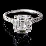 3.39 Custom Asscher Diamong Ring