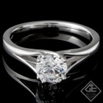 Ladies' Solitaire 14K White Gold Engagement Ring