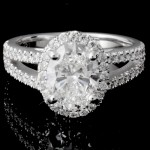 Custom Oval Diamond Halo Engagement Ring