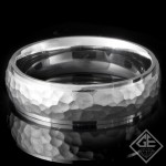 Men's Wedding Band 6.10 mm 14k White Gold