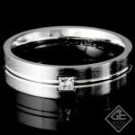 Men's Wedding Band 8.40 Grams 6.00 MM 14k White Gold