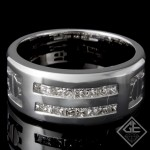 Men's Wedding Band 0.68 ct 14k White Gold