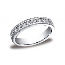 Diamonds White Gold 4mm Diamond Band
