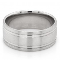Men's 8 mm. Platinum Wedding Band