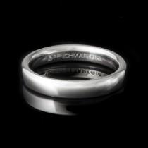 Men's Wedding Band 3.50 mm 14k White Gold