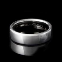 14k White Gold 6.50 MM Men's Wedding Band