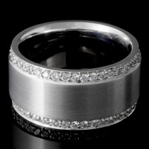 Ladies 1.10 Ct Round Cut Diamond Wedding Band