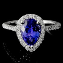 Ladies Custom Tanzanite and Diamond Ring