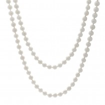 Ladies Japanese Akoya Pearl Necklace with 14k White Gold Infinity Style Lock