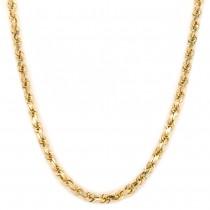 14k Yellow Gold Diamond Cut Rope Chain 4mm. 28-inch 37g.