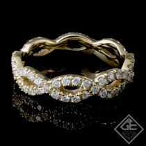 0.74 carat Round Brilliant Cut Diamond Eternity Band in 14k Yellow Gold