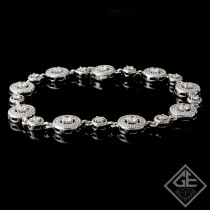 2.75 Ct total Round Brilliant Cut Ladies Diamond Bracelet in 14k White Gold