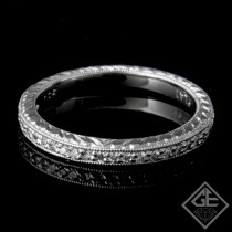 Ladies Diamond Matching Wedding Band with 0.14 carat Round Brilliant cut side diamonds