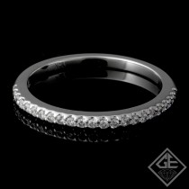 Ladies Diamond Matching Wedding Band with 0.17 carat Round Brilliant cut side diamonds.