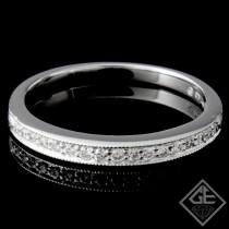 Ladies Diamond Matching Wedding Band with 0.15 carat Round Brilliant cut side diamonds.