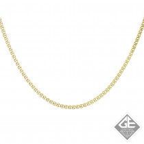 14k Yellow Gold 2.00 mm Light Flat Link Chain - 21 Inches