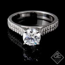 0.40 carat Round Brilliant Cut Diamond Engagement Ring 14k Gold