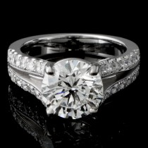 Custom 2.53 Ladies Round Diamond Engagement Ring