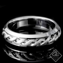 Men's Wedding Band 6.14 mm 14k White Gold