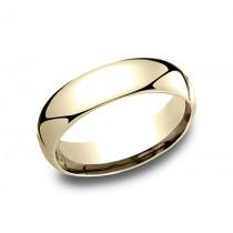 6.00 MM Men's Wedding Band in 14k Yellow Gold