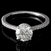 Custom 1.06 carat Round Brilliant Diamond Engagement Ring