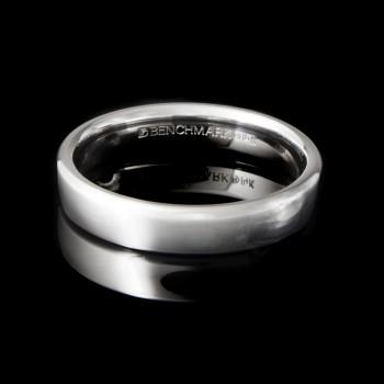 Men's Wedding Band 4.05 mm 14k White Gold
