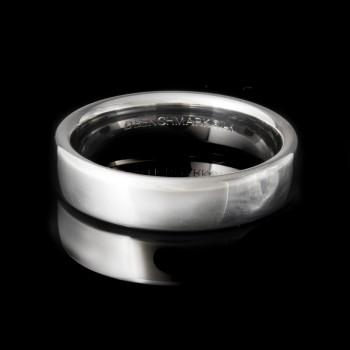 Men's Wedding Band 5.50 mm 14k White Gold