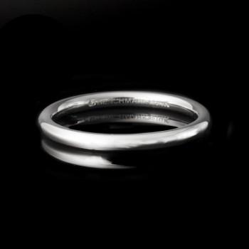 2MM Men's Wedding Band in 14k White Gold
