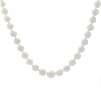 Ladies Japanese Akoya pearl necklace with 14k 2-tone Gold Lock