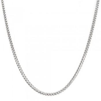 2 mm. 20-Inch Franco Chain in 18k White Gold