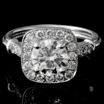 Custom Cushion Halo Engagement Ring
