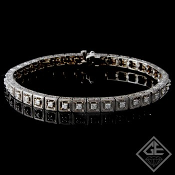 1.03Ct total Round Brilliant Cut Ladies Diamond Bracelet in 14k White Gold