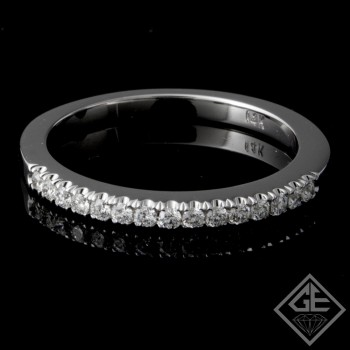 Ladies Diamond Matching Wedding Band with 0.17 carat Round Brilliant cut side diamonds