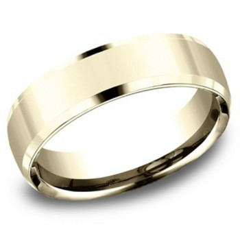 Men's 5.50 MM 14k Yellow Gold Benchmark Band