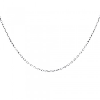 Ladies 14k Gold 1 mm Rolo Chain Necklace-16 inches