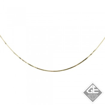 Ladies 14k Gold 0.75 mm Square Snake Diamond cut Chain Necklace-16 inches