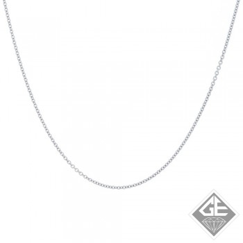 Ladies 14k Gold 0.60 mm Rolo #25 Chain Necklace-16 inches