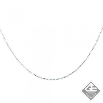 Ladies 14k Gold 1 mm DC Cable Rolo Chain - 16 Inches