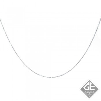 Ladies 14k White Gold 1.00 mm Rolo Chain - 18 Inches